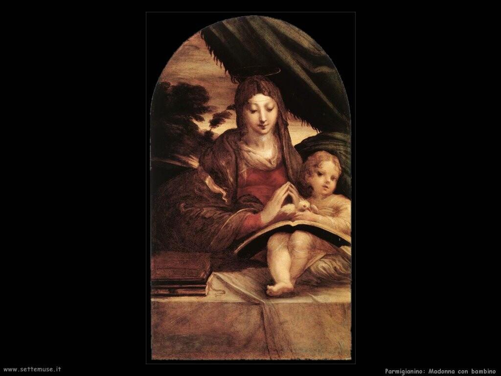 parmigianino Madonna con bambino