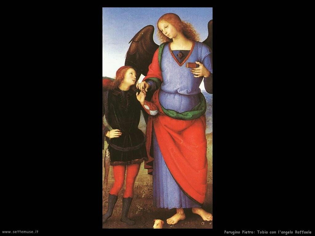 perugino pietro Tobia con l'arcangelo Gabriele