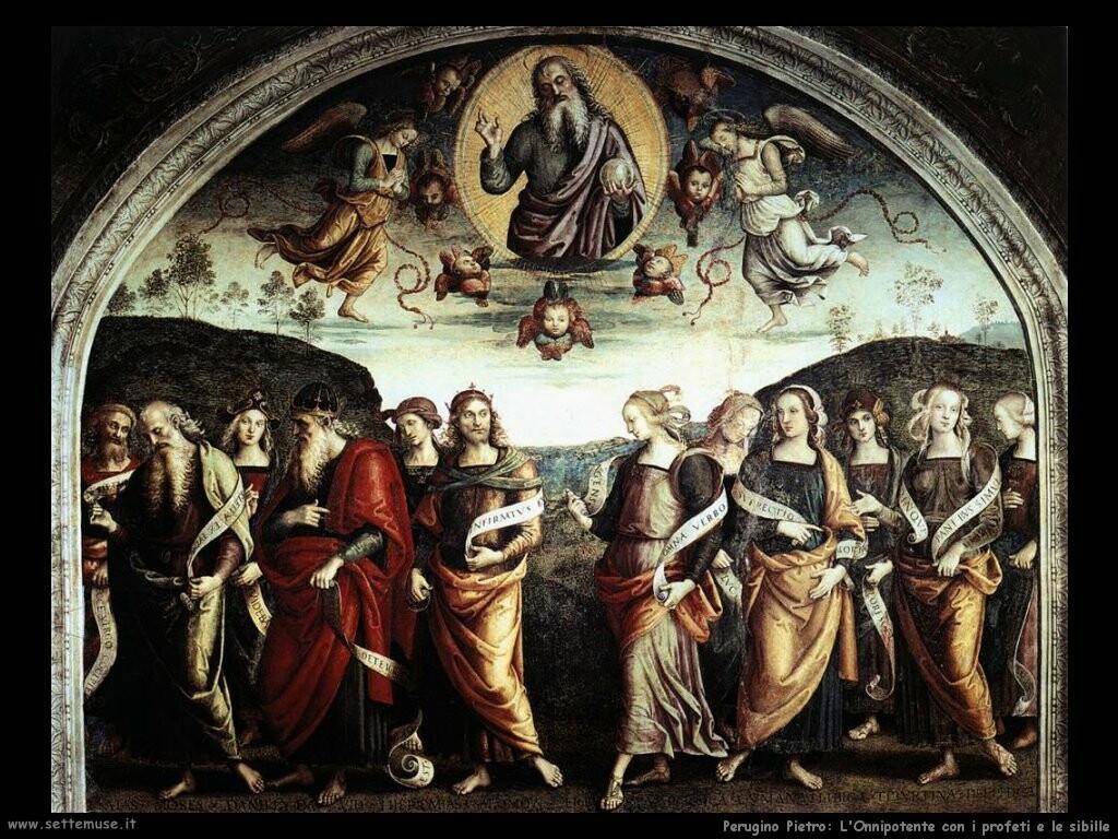 perugino pietro L'Onnipotente con santi e sibille