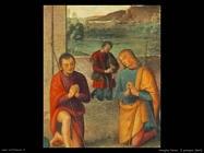 perugino pietro  Il Presepio (dett)