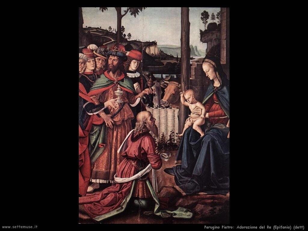 perugino pietro Adorazione dei Magi (Epifania) (dett)