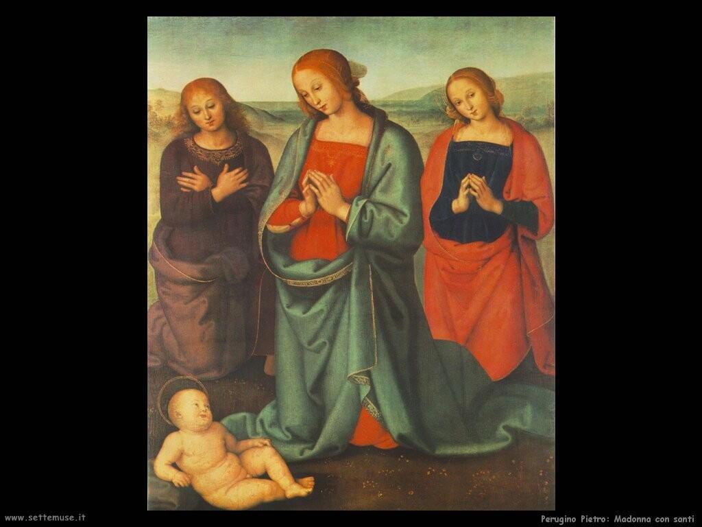 perugino pietro Madonna con santi