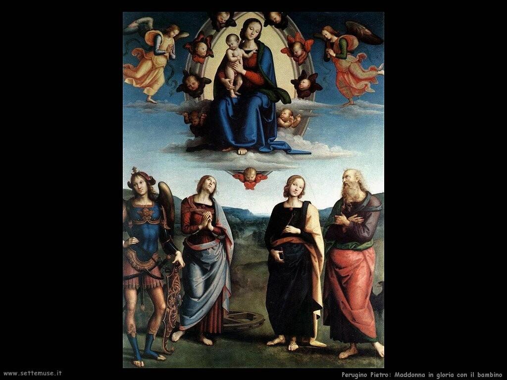 perugino pietro Madonna in gloria col bambino