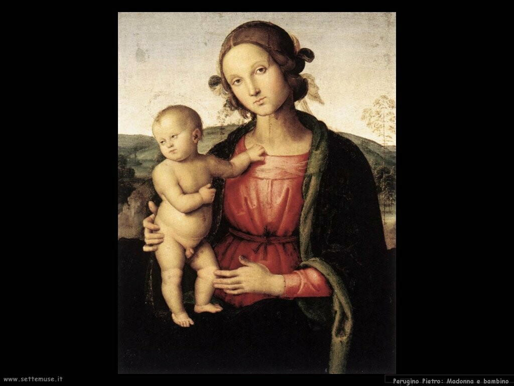 perugino pietro  Madonna e bambino
