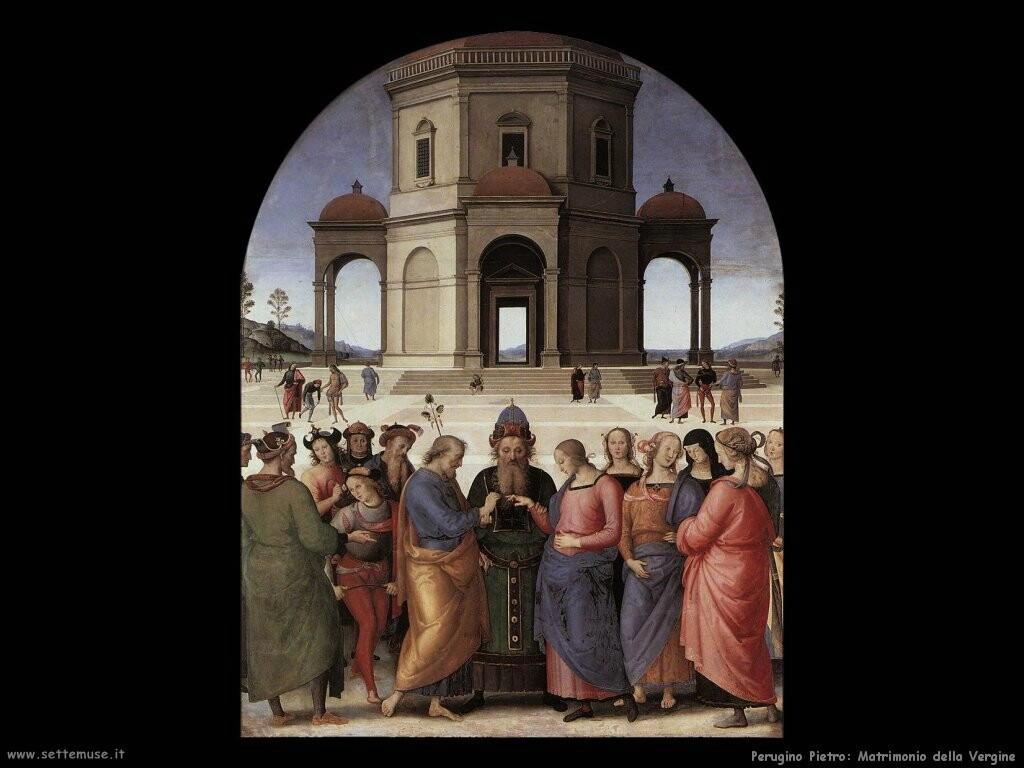 perugino pietro Matrimonio della Vergine