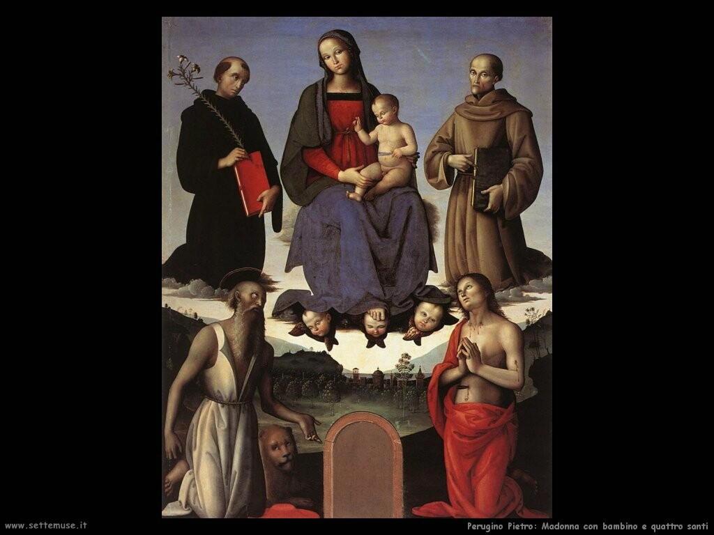 perugino pietro Madonna con bambino e quattro santi