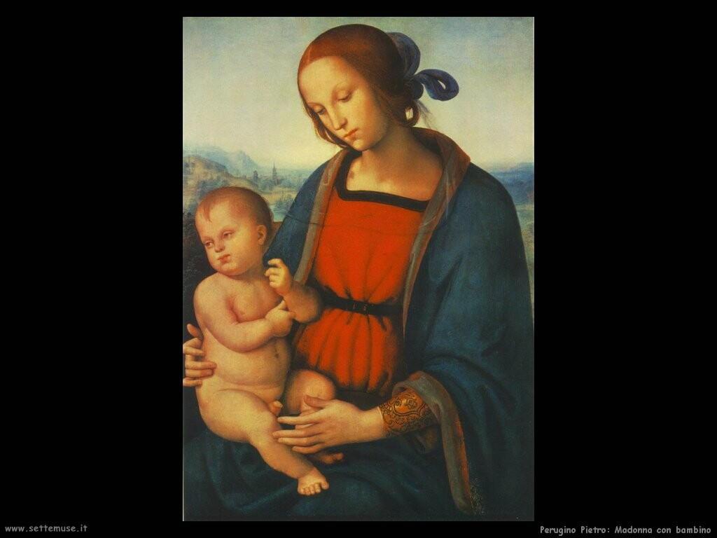 perugino pietro Madonna con bambino
