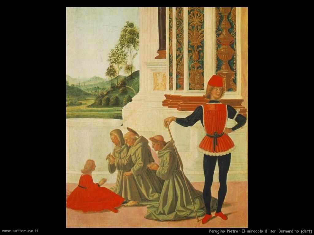 perugino pietro Il miracolo di san Bernardino (dett)