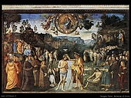 perugino pietro Battesimo di Cristo