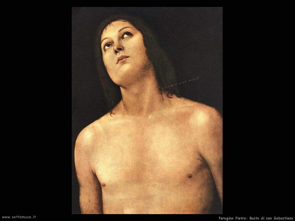perugino pietro Busto di san Sebastiano