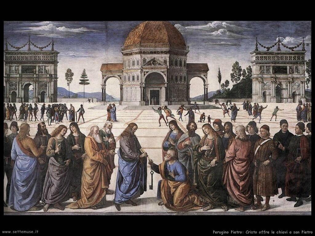 perugino pietro Cristo consegna le chiavi a san Pietro