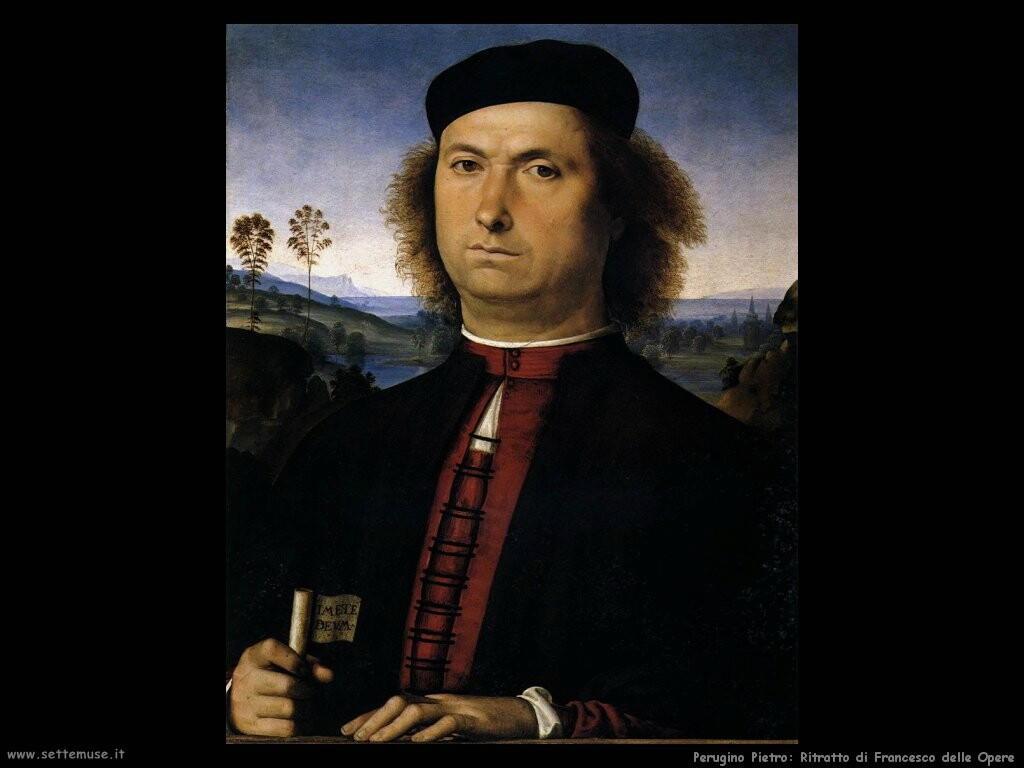 perugino pietro Ritratto di Francesco delle Opere