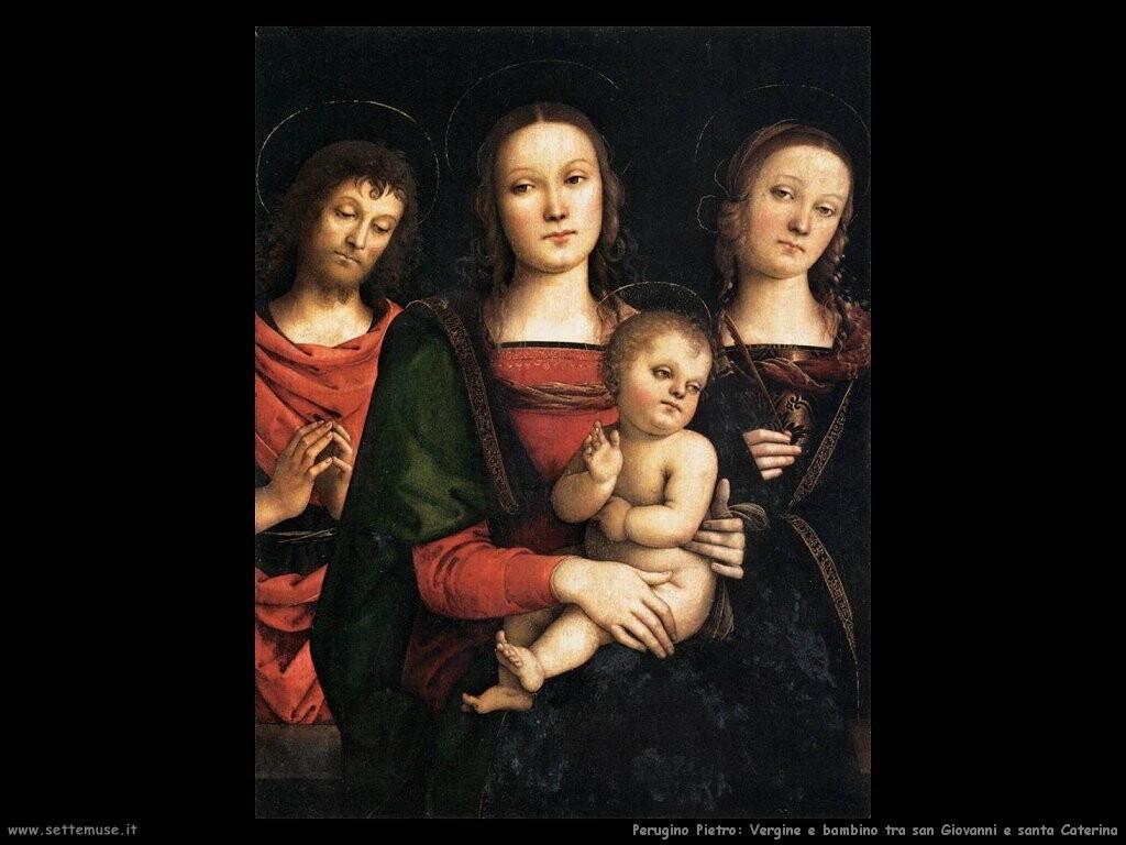 perugino pietro Vergine con bambino tra san Giovanni e santa Caterina
