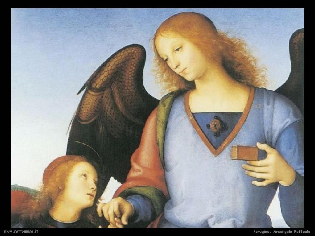 Perugino Tobia con l'arcangelo Gabriele (dett)
