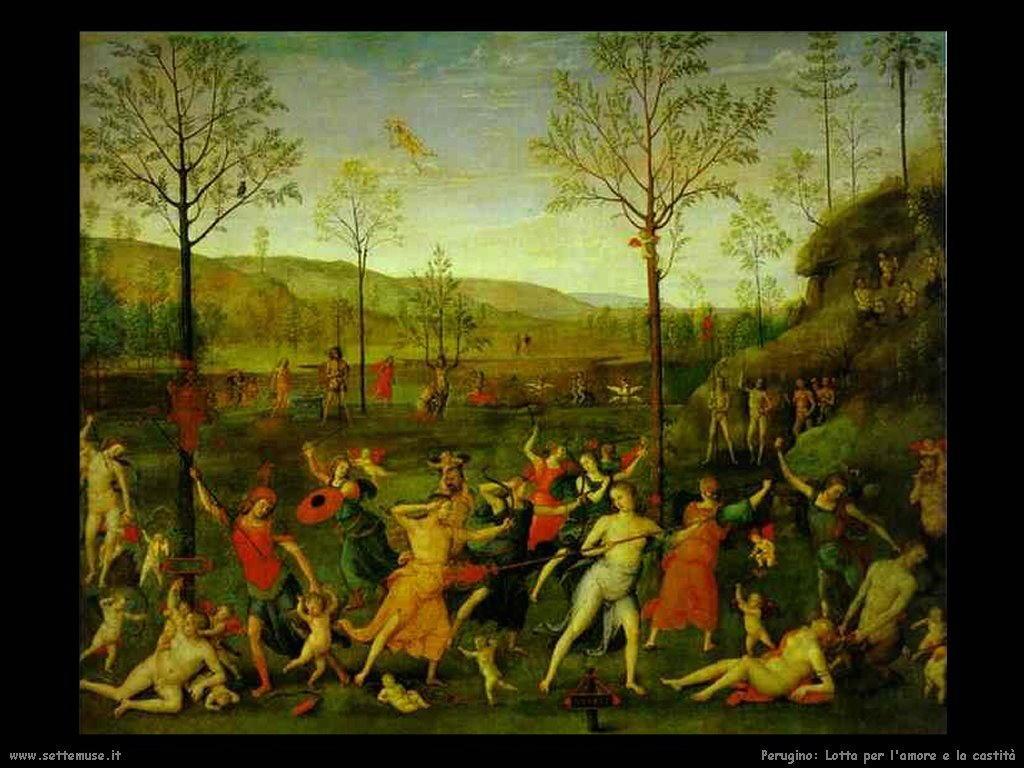 Perugino Lotta per l'amore e la castità