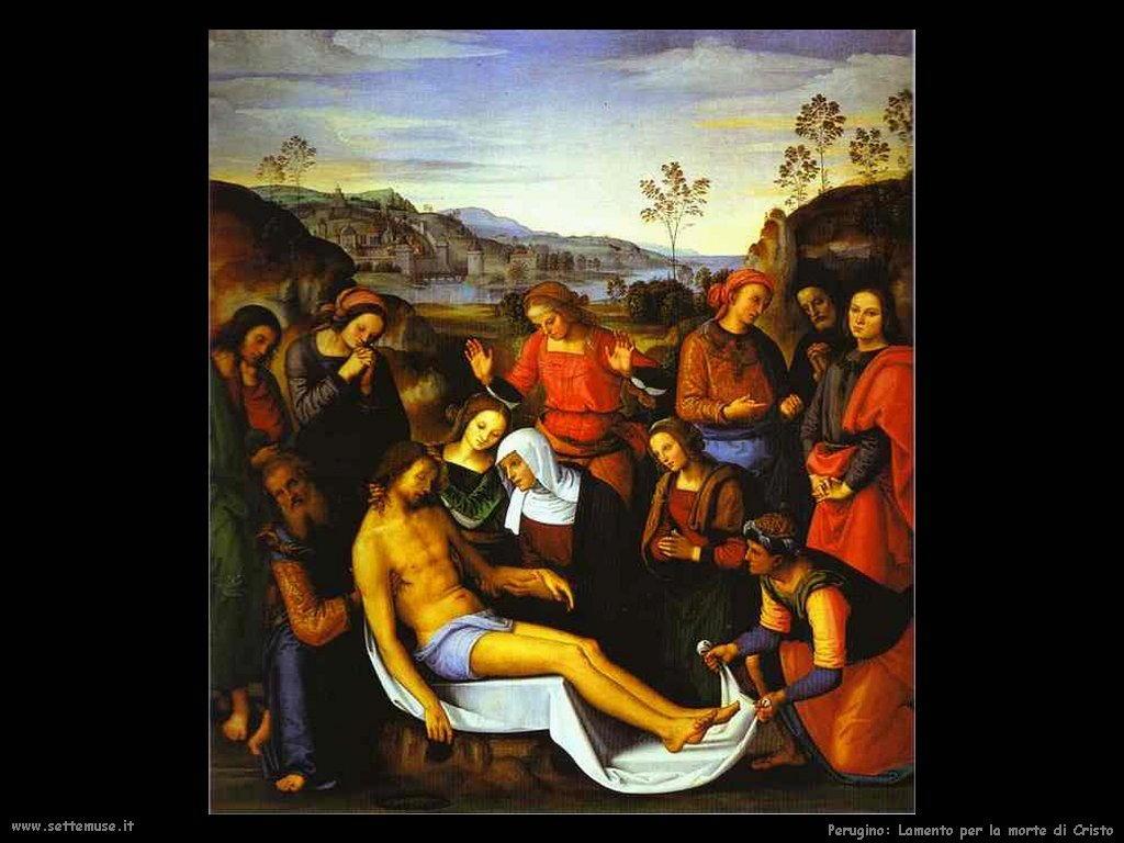 Perugino Lamento per la morte di Cristo