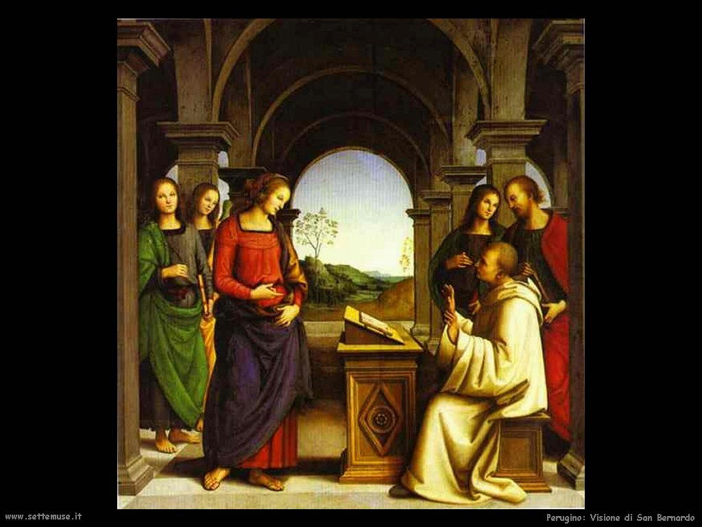 Perugino Visione di San Bernardo