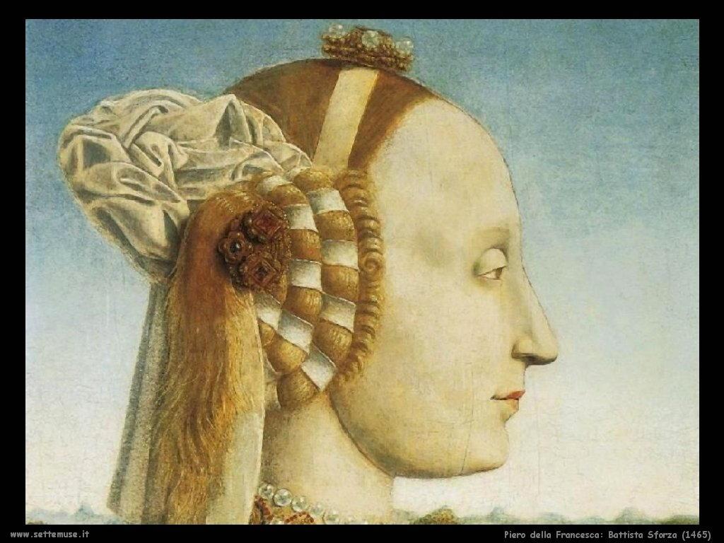 Piero della Francesca Battista Sforza (1465)
