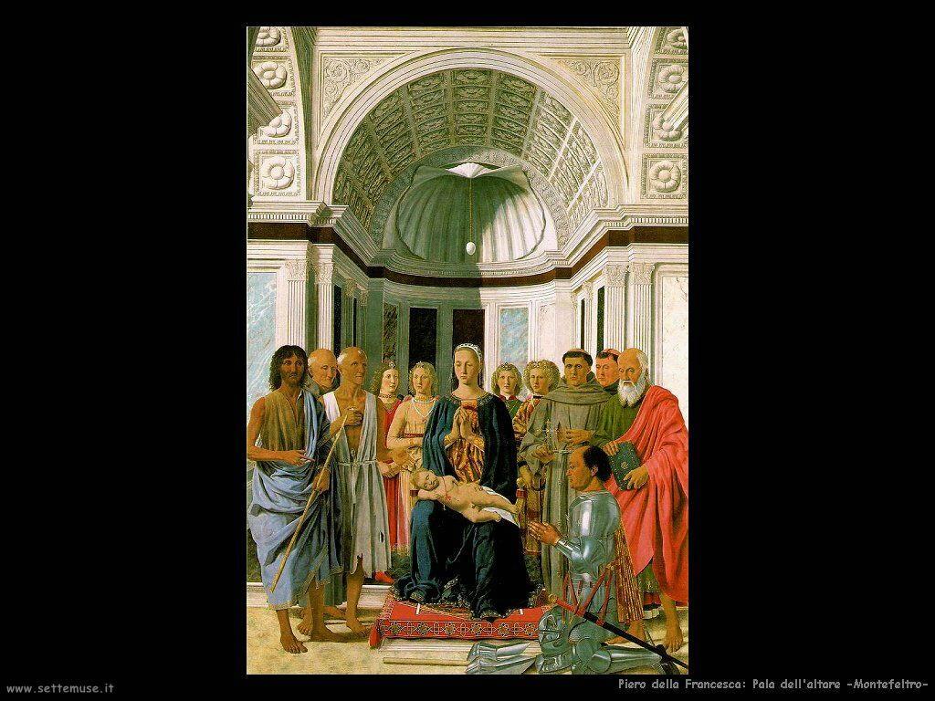 Piero della Francesca - pala altare montefeltro