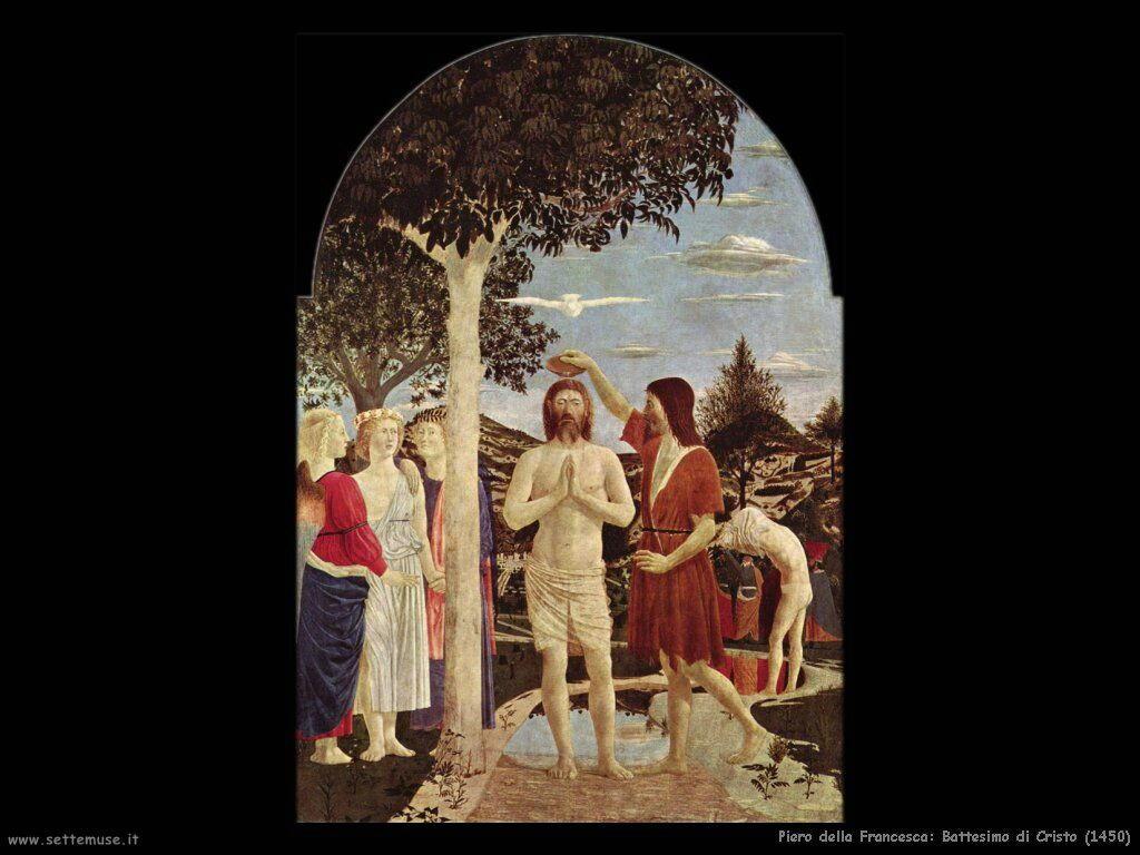 piero della francesca Battesimo di Cristo (1450)