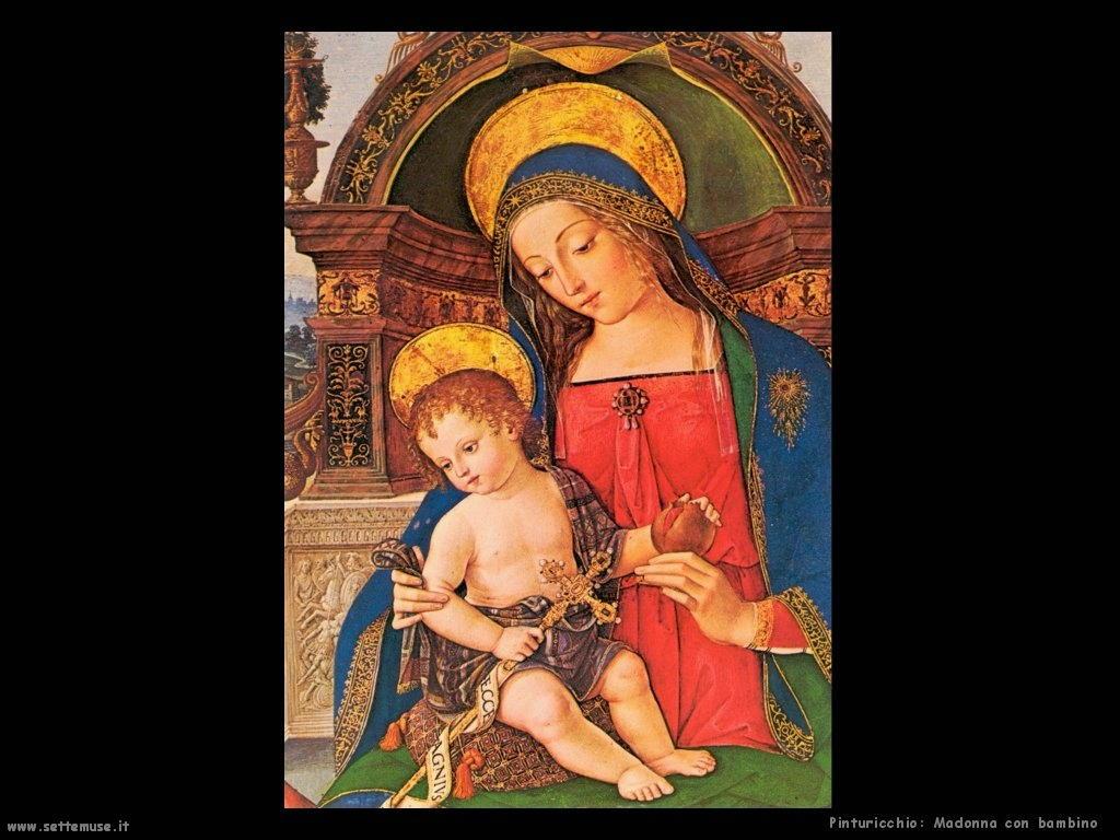 pinturicchio Madonna con bambino