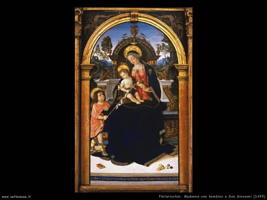 Madonna con bambino e San Giovanni (1495)