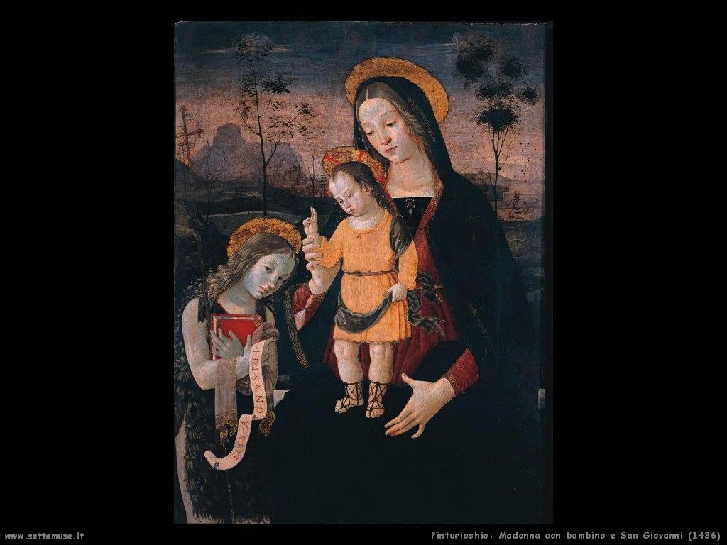 Madonna con bambino e San Giovanni (1486)