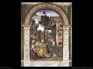 pinturicchio Adorazione di Cristo bambino