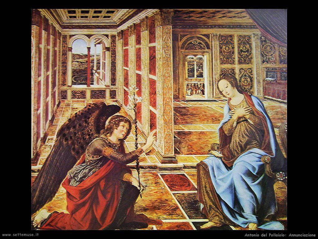 antonio del pollaiolo Annunciazione