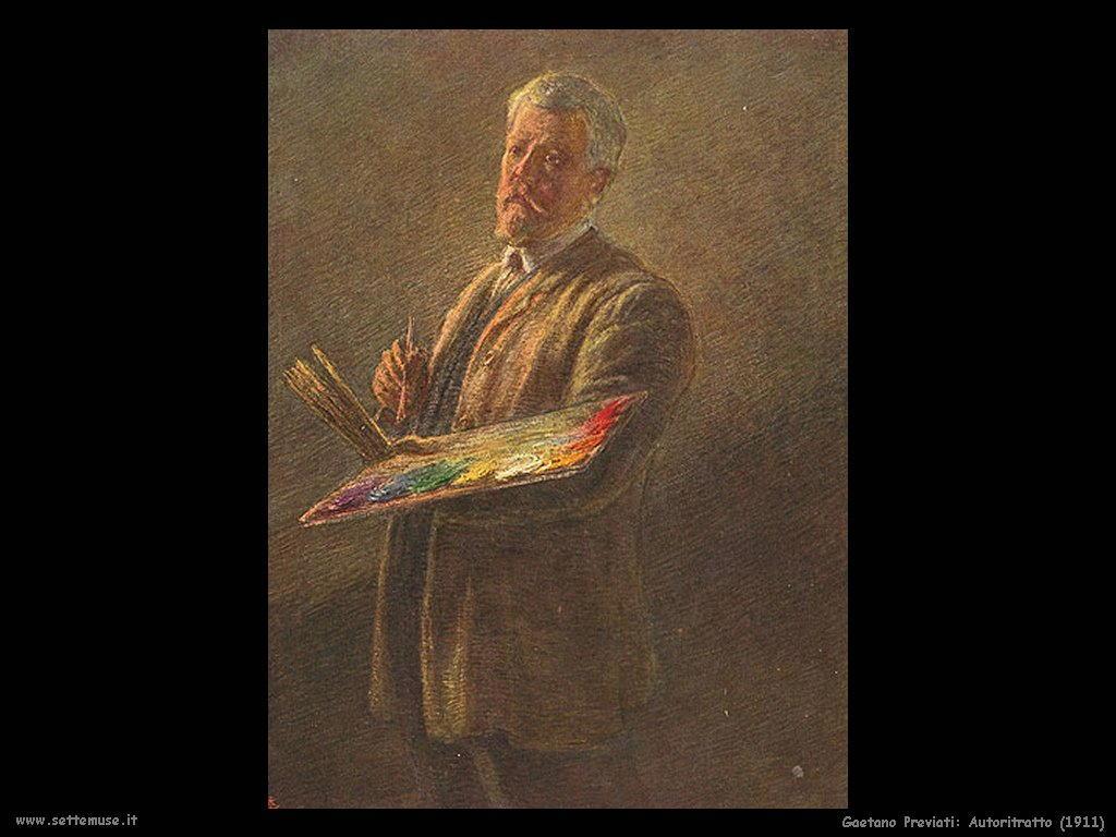 Gaetano Previati Autoritratto (1911)