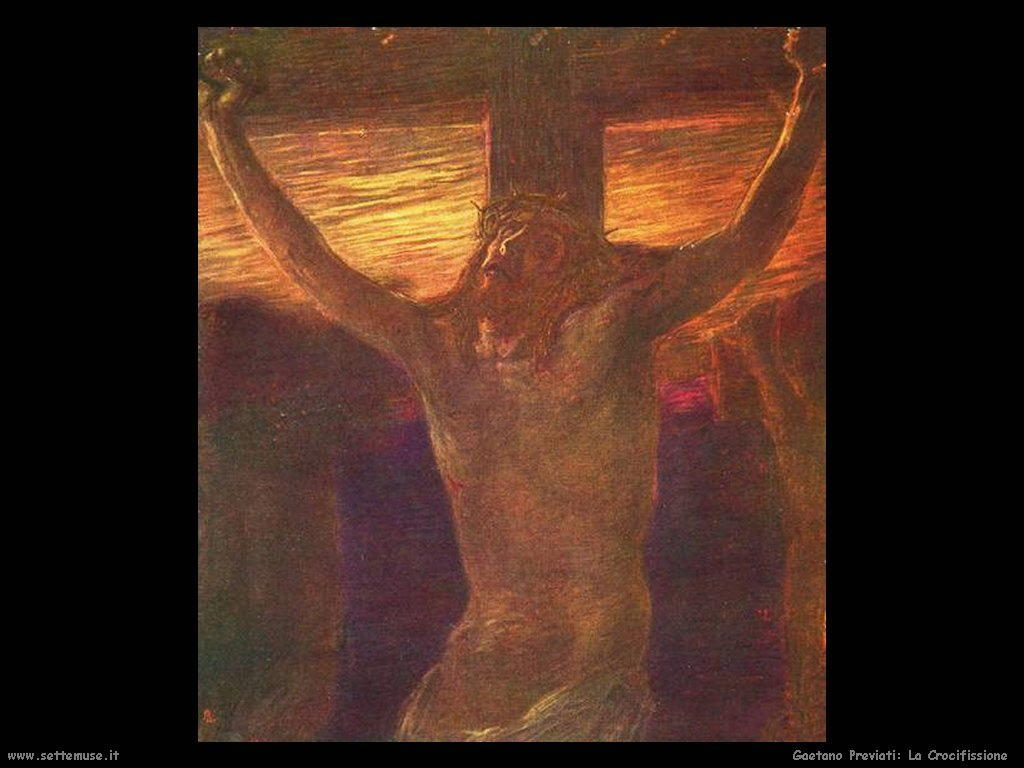Gaetano Previati La crocifissione