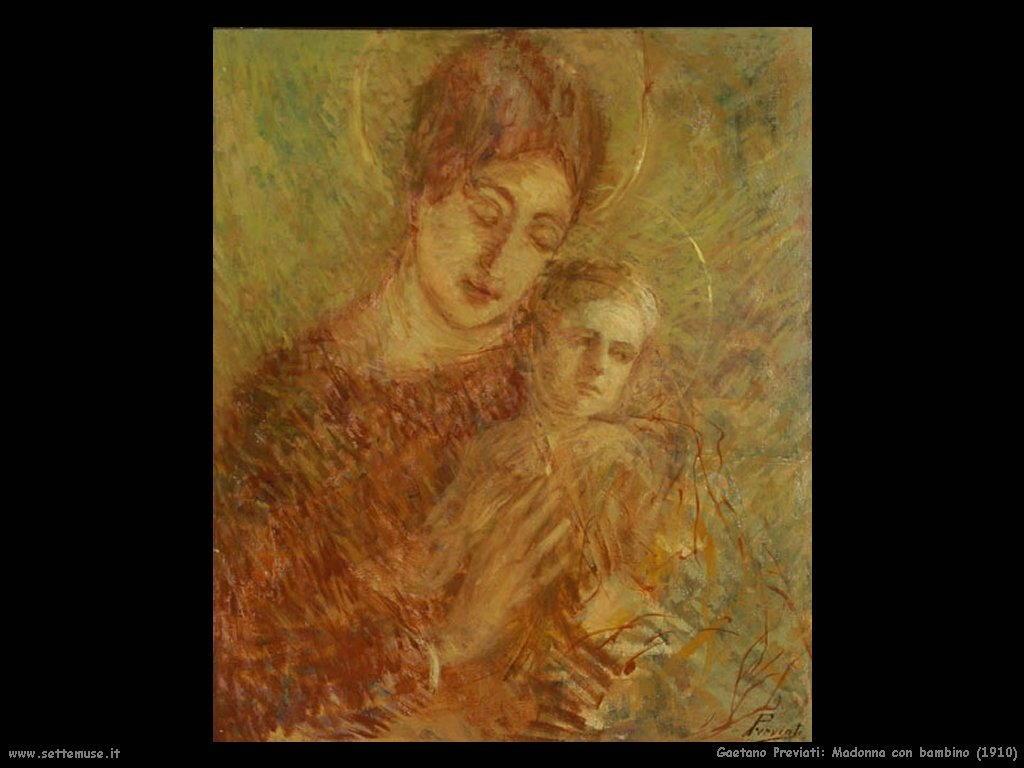 Gaetano Previati Madonna con bambino (1910)
