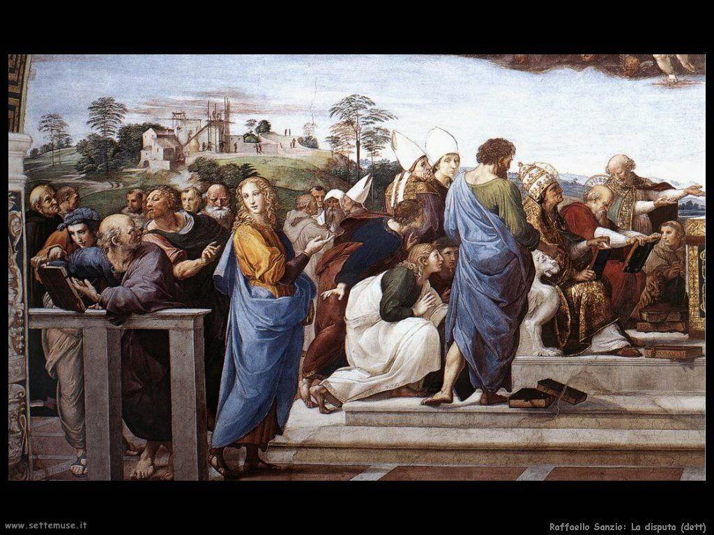 Raffaello: Disputa del sacro Sacramento (dett)