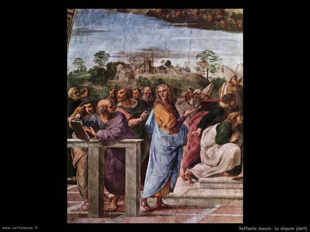 Disputa del sacro Sacramento (dett)