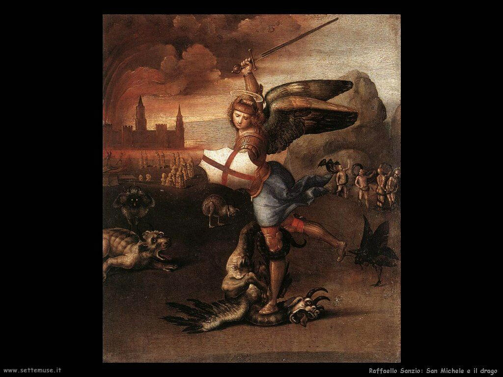 Raffaello: San Michele e il drago