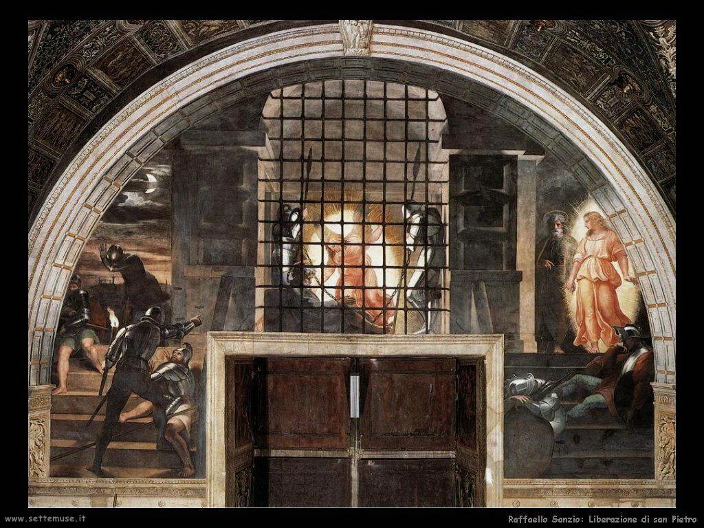Raffaello: Liberazione di san Pietro