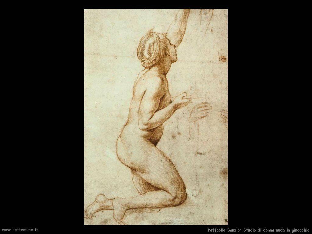 Studio di donna nuda in ginocchio