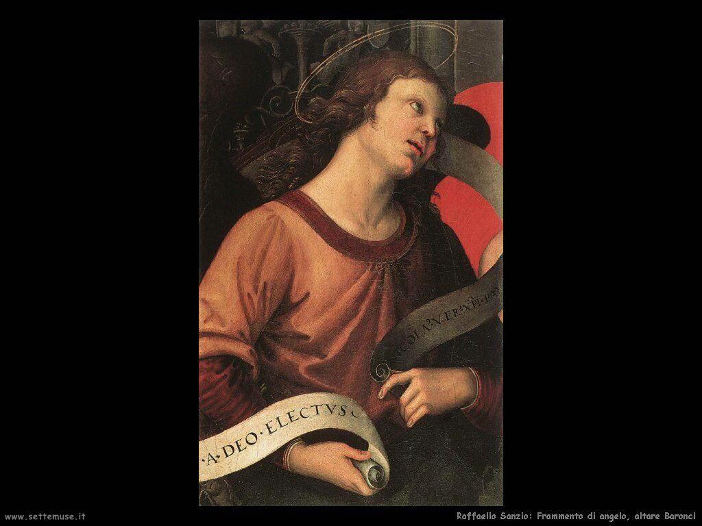 Frammento di angelo, altare Baronci