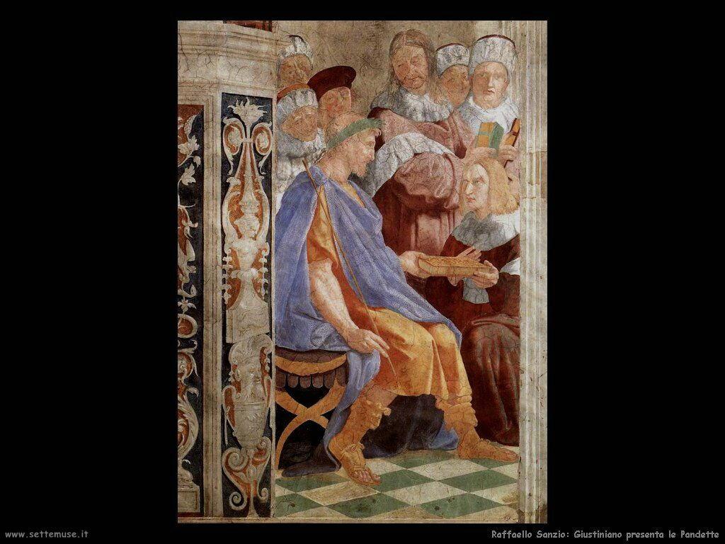 Giustiniano presenta le Pandette
