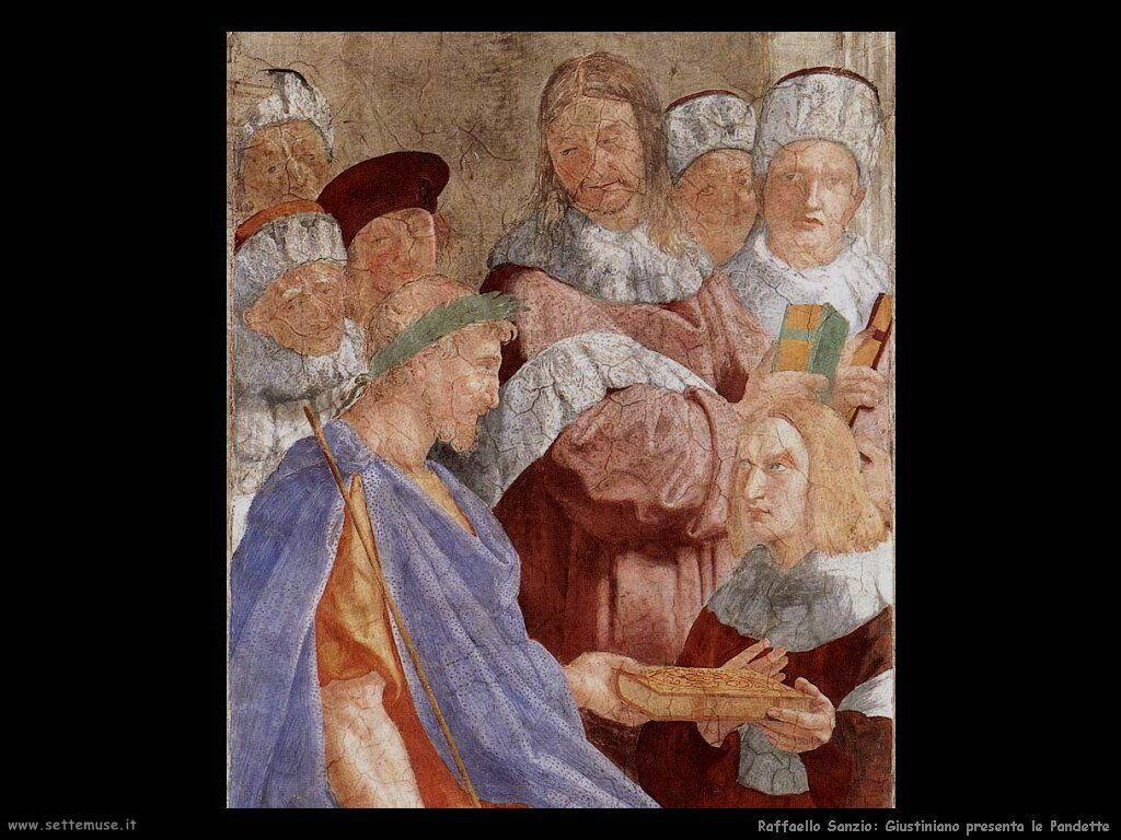 Giustiniano presenta le Pandette (dett)