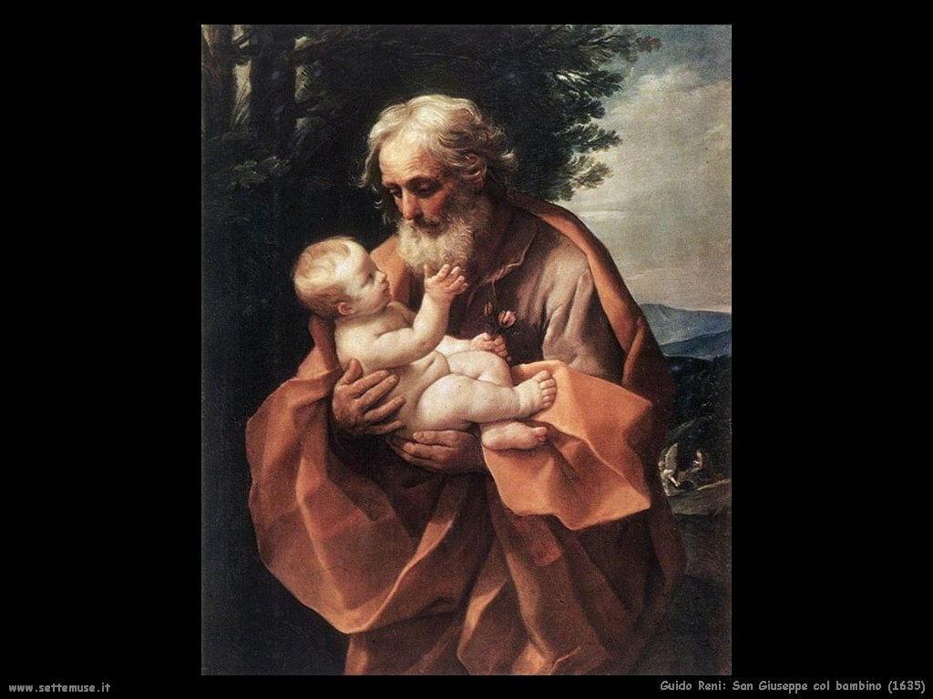Guido Reni San Giuseppe col bambino (1635)