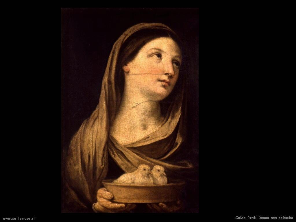 Guido Reni Donna con colombi