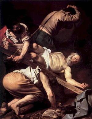 Dipinto di Guido Reni - Crocefissione di San Pietro