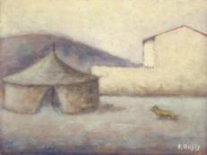 Dipinto di Ottone Rosai- Piazza del Carmine