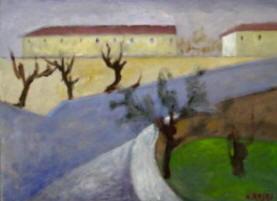 Biografia di Ottone Rosai - Paesaggio 1950