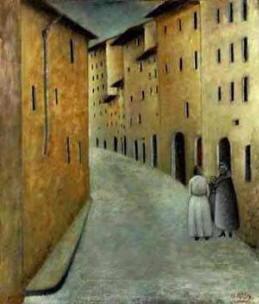 Quadro di Ottone Rosai - Via Toscanella 1922