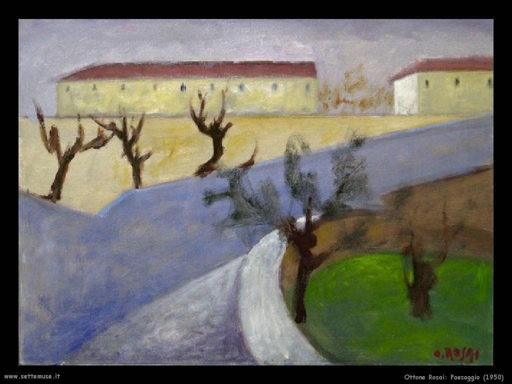 Ottone Rosai Paesaggio (1950)