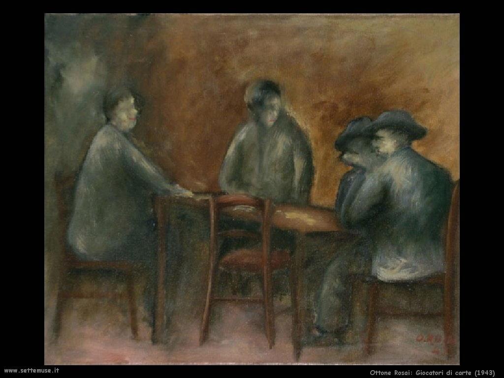 Ottone Rosai Giocatori di carte (1943)