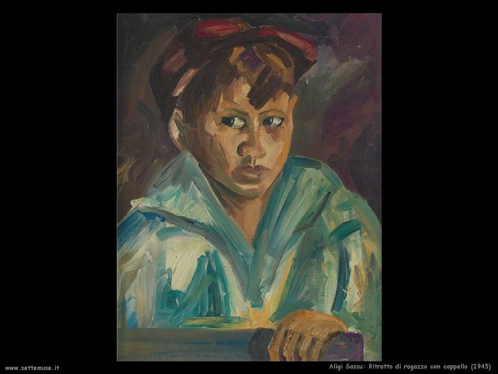 Ritratto di ragazzo con cappello rosso (1945)