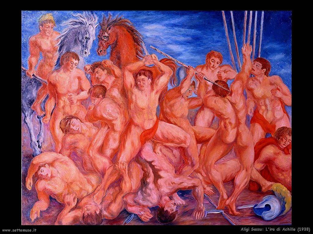 aligi sassu L'ira di Achille (1938)